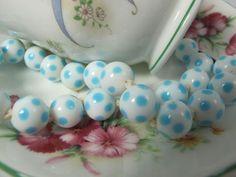 1950s glass beads