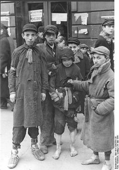 Children in the Warsaw ghetto, May 1941.