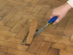How to Repair Parquet Flooring : How-To : DIY Network