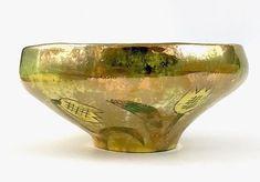 Mid Century Modern Planter Melon Shape Flower Pot Bowl Retro Mottled ...