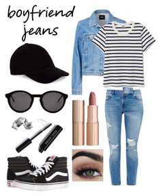 👖Boyfriend Jeans👖 by itz-me-aaliyah on Polyvore featuring polyvore, fashion, style, Ted Baker, Vans, Le Amonie, Thierry Lasry, Bobbi Brown Cosmetics, Charlotte Tilbury and clothing
