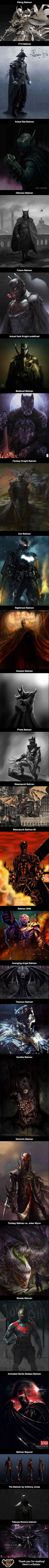 Alternate Fan Art Takes On Batman