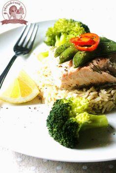 Jak pączek w maśle...blog kulinarny,smacznie,zdrowo,kolorowo!: Dietetyczny filet z łososia z warzywami na parze