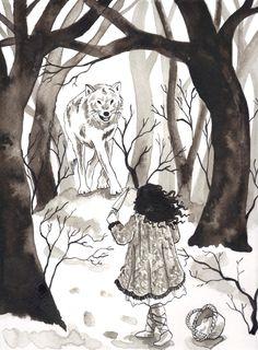 Inktober. Illustration for The Bloody Chamber. The Werewolf by Angela Carter. Scott Keenan, 2015 http://scottkeenanillustration.tumblr.com/ https://instagram.com/scottkeenan93/ #art #illustration #fairy tale #fairytale