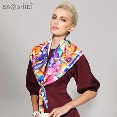 Swallow design twill silk scarf 90x90 women's neckwear BAOSHIDI 1031140313