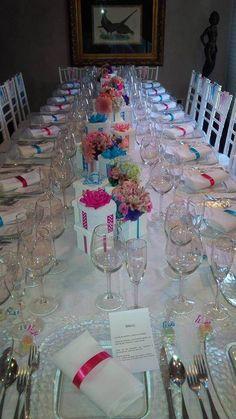 Colorida decoración para boda