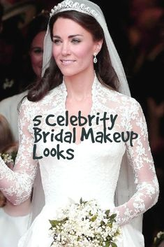We love being inspired by some of our favorite celebrities on a good day, but especially when it comes to weddings. This week we're focusing on bridal makeup from the likes of Kim Kardashian, Kate Middleton and a few other celebrities who continue to inspire brides around the world.