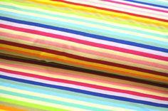 Jersey bunt REGENBOGEN Streifen 50cm x 1,50m Pumphose Ringel GALA PREMIUM A
