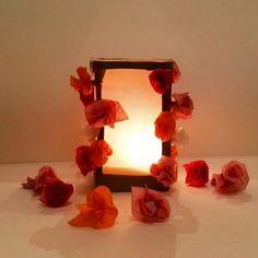 creative drizzle : Blütenzauber Windlicht