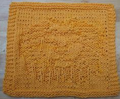 DigKnitty Designs: Another Lion Knit Dishcloth Pattern
