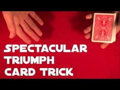 Today you'll learn cool triumph card trick that is very easy to do. Performance and tutorial is done by KaanTricks who will teach you everything you need to know! Card Tricks For Beginners, Easy Card Tricks, Magic Tricks, Need To Know, Playing Cards, Teaching, Playing Card Games, Education, Game Cards