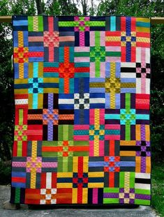 Colors Quilt Pattern – Rug making Quilting Projects, Quilting Designs, Quilting Tutorials, Quilting Ideas, Sewing Projects, Quilt Design, Crochet Projects, Scrap Quilt Patterns, Applique Quilts
