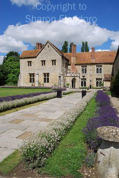 Vivien Leigh and Laurence Olivier's Notley Abbey, the 15th century country estate near Aylesbury in Buckinghamshire.