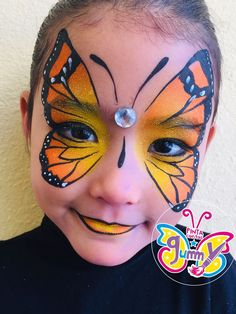 A majestic butterfly face painting for parties adorable dog face painting for kids Visage Halloween, Maquillage Halloween, Halloween Makeup, Halloween Painting, Halloween Face Paintings, Kids Halloween Face Paint, Zombie Makeup, Girl Face Painting, Belly Painting