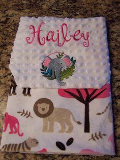 Soft personalized minky fabric blanket 30 x by PreciousLoveDesigns,