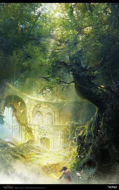 Age of Conan undying Temple by ~FangWangLlin on deviantART