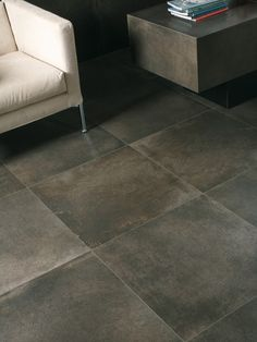 .. my favorite so far - tile that looks like polished concrete
