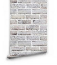 Lime washed Brick Wallpaper by Milton & King