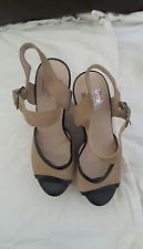 Dolce Vita women's sandals nude suede and leather Minx wood platforms size 8.5 in Clothing, Shoes & Accessories, Women's Shoes, Heels | eBay