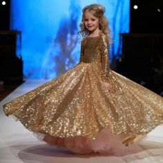 Items similar to Gold flower girl dress, great gatsby dress, gold pageant dress on Etsy Girls Evening Dresses, Sequin Flower Girl Dress, Pageant Dresses For Teens, Princess Flower Girl Dresses, Ball Gowns Evening, Girls Dresses, Flower Girls, Girls Party Dress, Gold Dress