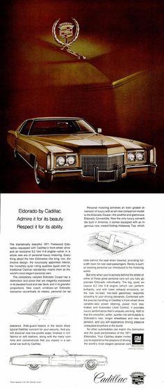 Traveling To The Past: Cadillac Eldorado 1971 Vintage Advertising