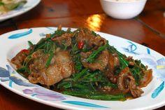 fried pork with satay sauce #Taiwan #food 沙茶山豬肉