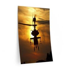 BOEING AH 64 APACHE Vertical Wall Decals