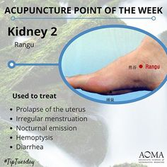 #TipTuesday: #Acupuncture Point of the Week, Kidney 2  #chinesemedicine #acupunctureschool