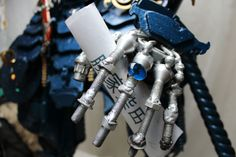 Made of car scrap. Samurai made in Kristof Shakti. Katsuie Shibata from Fukui. Japanese Warrior. Game warrior