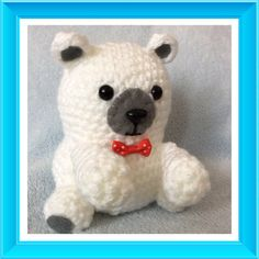 Crochet amigurumi polar bear by Cutesybeasties on Etsy