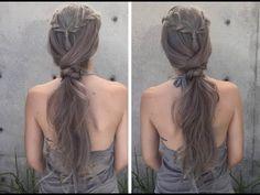 Braided Knot Pony - YouTube