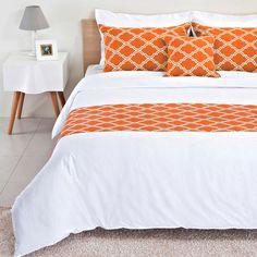 Burnt Orange Bed Runner Reversible by BHDecor on Etsy, $69.95