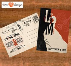 Art Deco Wedding Invitations Inspired By The Paperstreetpress Pinterest And Gatsby