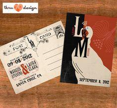 Thru 79 Design  5 x 7 Save the Date Postcard  by KJohnstonCreative, $2.00