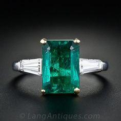 3.19 Carat Emerald Solitaire - 30-91-1806 - Lang Antiques