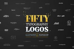 "Auf @Behance habe ich dieses Projekt gefunden: ""Fifty Typography Logos Bundle by Worn Out Media Co"" https://www.behance.net/gallery/40110113/Fifty-Typography-Logos-Bundle-by-Worn-Out-Media-Co"
