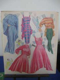 Vtg Paper Dolls Natalie Wood Whitman 1958 Uncut