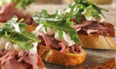 Feli Chic'Cuisine | The Best Dessert | ROAST BEEF CROSTINI HORSERADISH CREAM