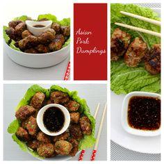 Asian Pork Dumplings.