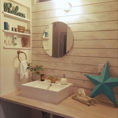 カリフォルニアスタイル/インスタ→hm_rie/インスタやってます!/Bathroom…などのインテリア実例 - 2015-03-25 14:21:48 | RoomClip(ルームクリップ)