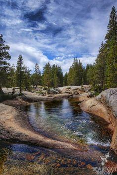 Tantalizing swimming holes on Lyell Fork of the Tuolumne River, Yosemite Yosemite National Park, National Parks, National Forest, Utah, Rio, John Muir Trail, Swimming Holes, California Travel, Mammoth Lakes California