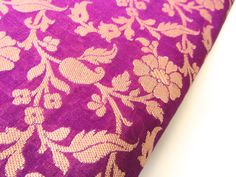 SALE Purple gold flowers and branches on purpldne door SilksByUmf