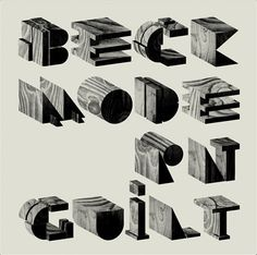 /// Wood typo album cover of Beck :). Super! #music #albumcover #design #typo #wood #typography