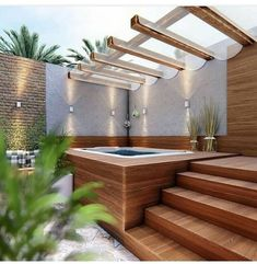 40 Lovely Jaccuzzis Ideas - When people refer to a hot tub or a spa, they often think of the word Jacuzzi. The terms are often used interchangeably but Jacuzzi is actually a bran. Hot Tub Gazebo, Hot Tub Deck, Hot Tub Backyard, Small Backyard Pools, Backyard Patio Designs, Backyard Landscaping, Landscaping Design, Indoor Pools, Lap Pools
