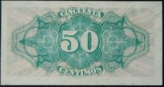 """Spain currency 50 Centimos banknote of Spanish Republic. - Reverse: Rosette with the expression of value. Authorized signatures recorded with the """"Director of the Treasury and Insurance"""" and """"Auditor General of State Administration. Money Pictures, Pictures Images, Spain, World, Ferrari Laferrari, Banknote, Coins, 17th Century, Antique Photos"""