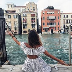 """LIKEtoKNOW.it on Instagram: """"""""Signing off in off-the-shoulder stripes from one of my favorite cities in the world, Venice. Thanks for following along!"""" -@collagevintage for #LTKTakeoverTuesday #CollageOnTheRoad edition 