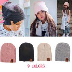6031703827baf Photo Props · REAKIDS Baby Hat Kids Newborn Knitted Cap Crochet Solid  Children Beanies Boys Girls Hats Headwear Toddler