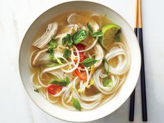 Quick Chicken Pho -- Use 2 cups cooked Phase 1 noodles (and an optional drop or 2 of stevia) for this warming soup.