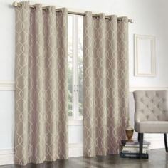 Good Gramercy Embroidered Faux Silk Curtain