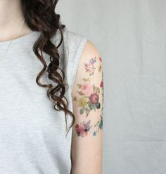 floral temporary tattoo pack